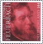 Image of Ludwig Feuerbach commemorative stamp from autodidact project